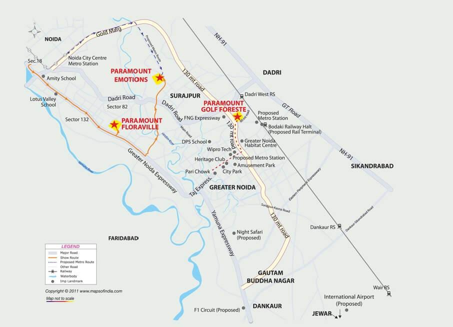 paramount golfforeste villas location image1