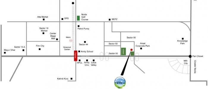 paras tierea duplex apartments project location image1