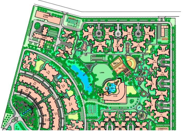 paras tierea duplex apartments project master plan image1