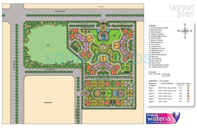 prateek wisteria master plan image1