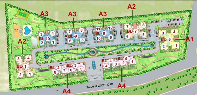 purvanchal heights master plan image1