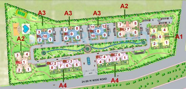purvanchal heights master plan image1