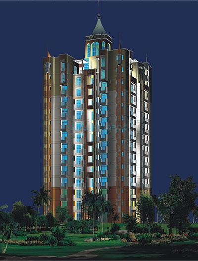 purvanchal heights tower view1