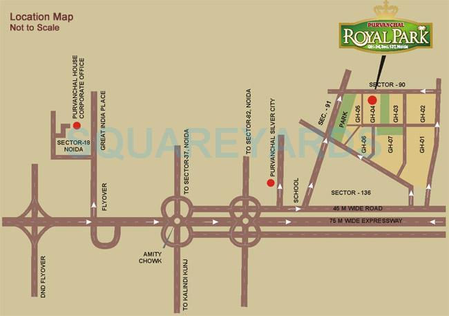 purvanchal royal park location image1