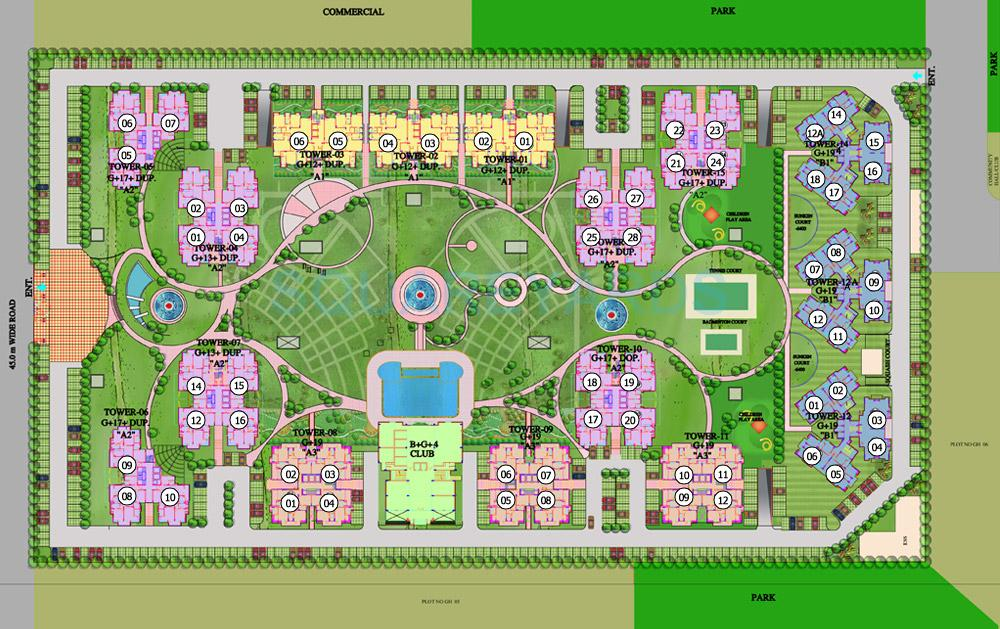 purvanchal royal park master plan image1