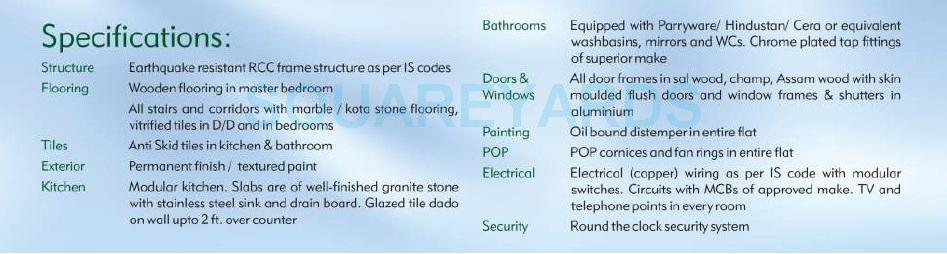 purvanchal silver city ii specification1