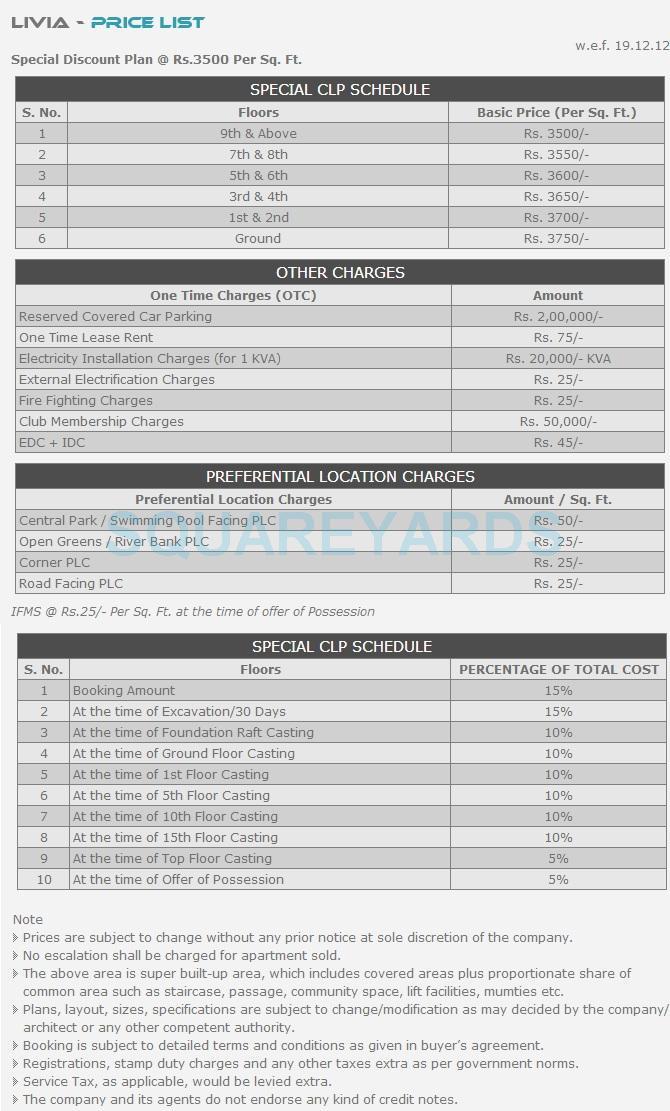 shubhkamna livia payment plan image1