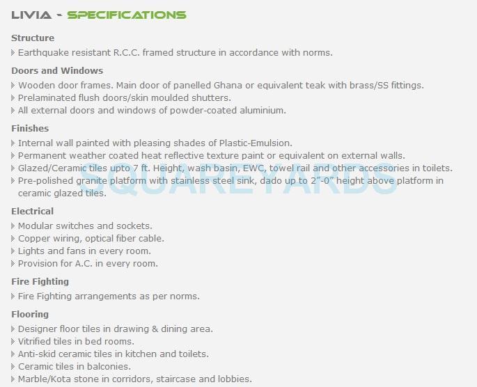 shubhkamna livia specification1