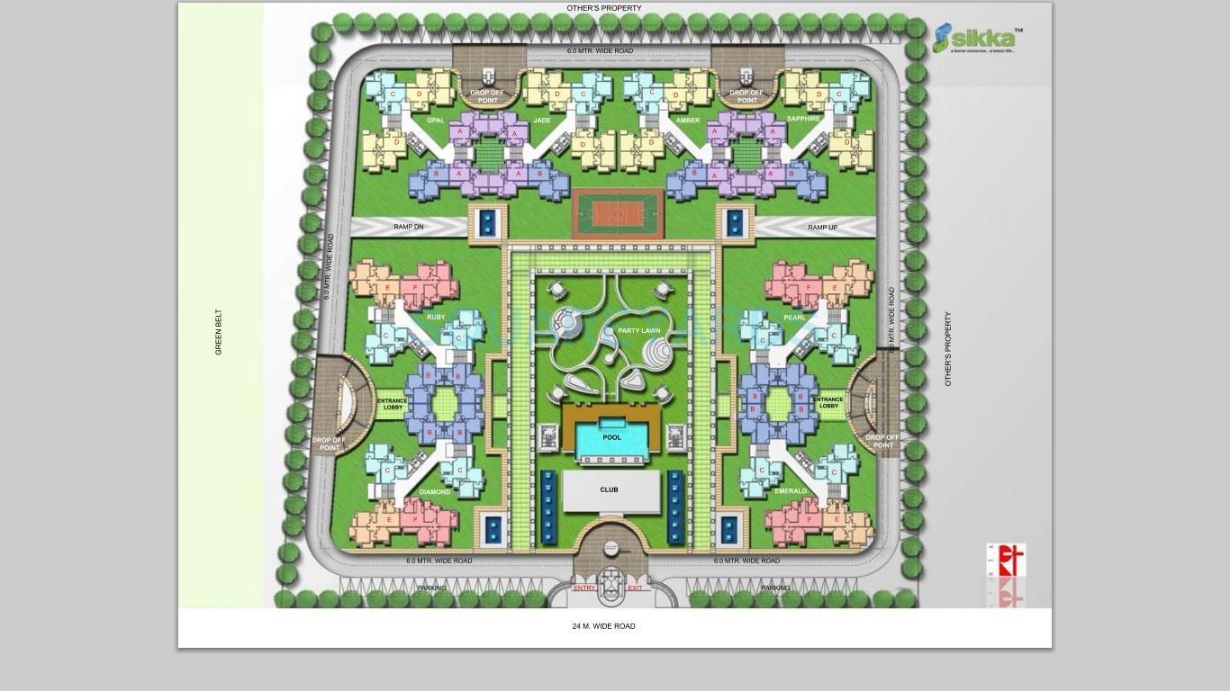 sikka kaamya greens master plan image1