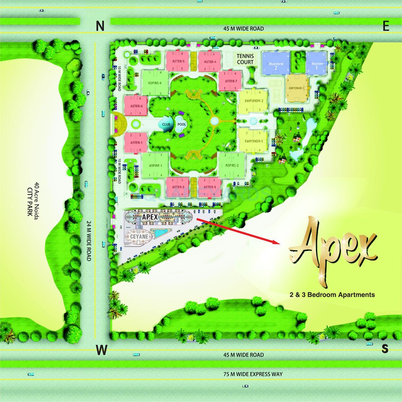 supertech apex tower master plan image1