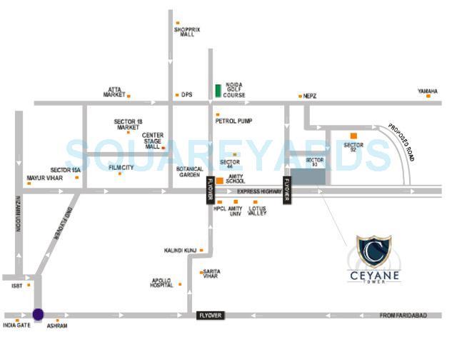supertech ceyane tower location image1