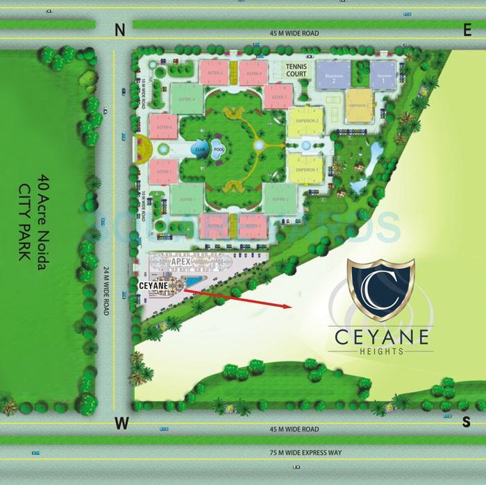 supertech ceyane tower master plan image1