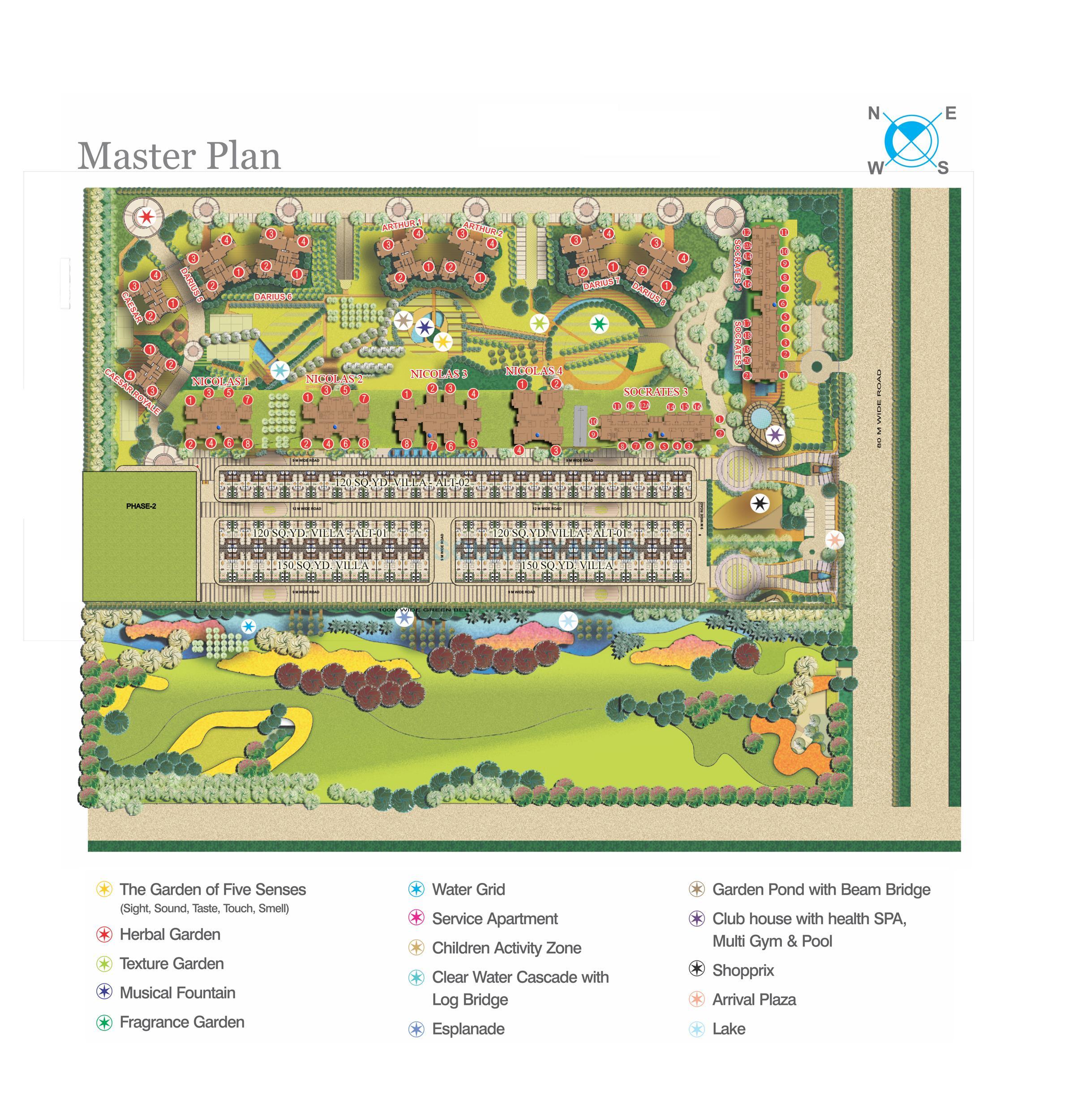 supertech czar suites master plan image1