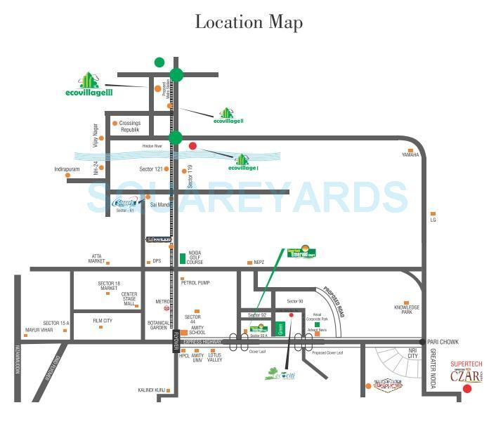 supertech ecovillage iii location image1