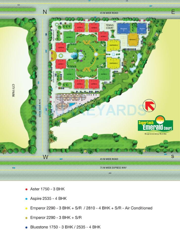 supertech emerald court master plan image1