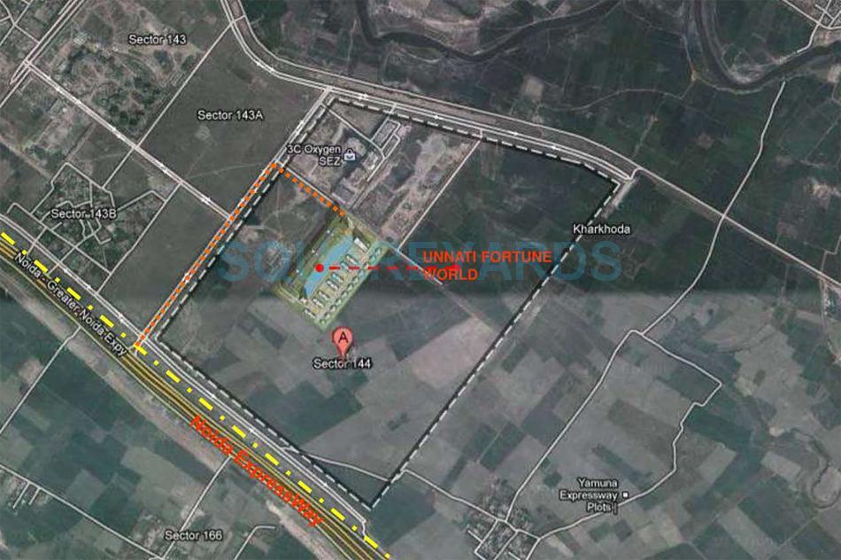 unnati fortune world vesta villas location image1