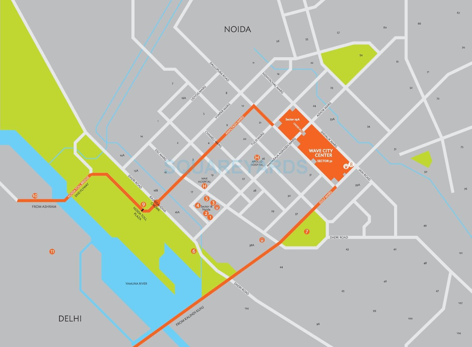 wave city center eminence location image1