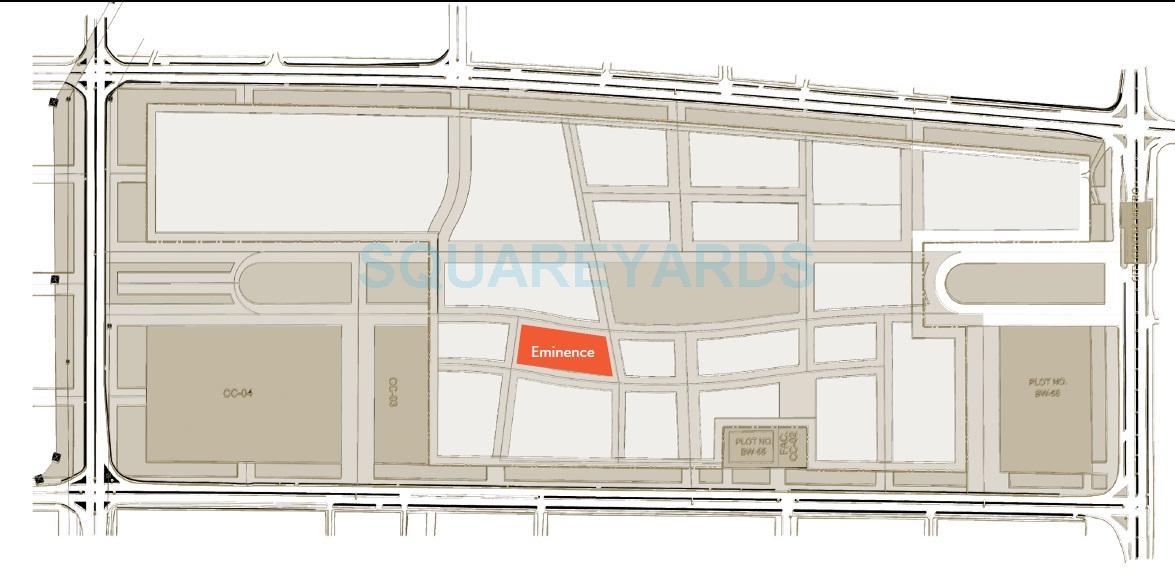 wave city center eminence master plan image1