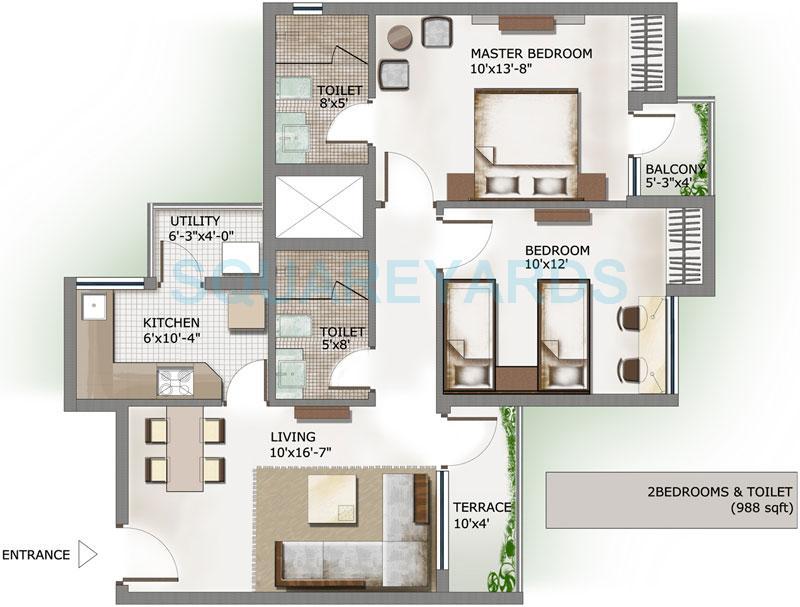 4 Bhk 2587 Sq Ft Apartment In 3c Lotus Panache