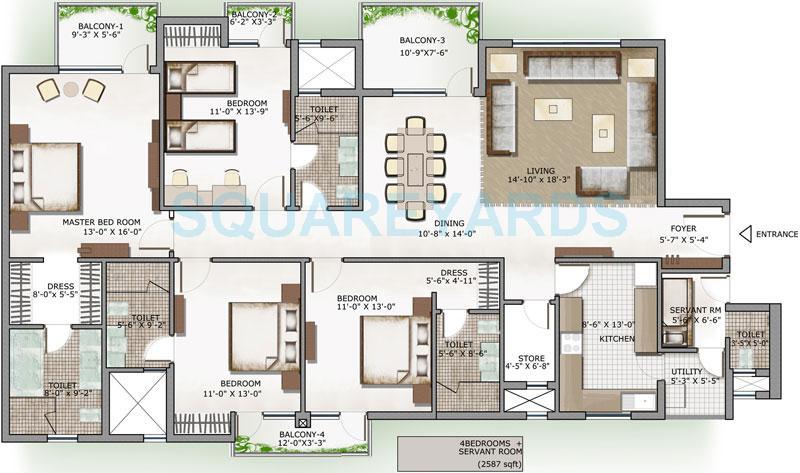 3c lotus panache apartment 4bhk sq 2587sqft 1
