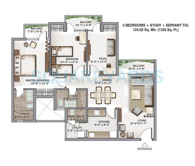 3c lotus zing apartment 2bhk st sq 1335sqft 1
