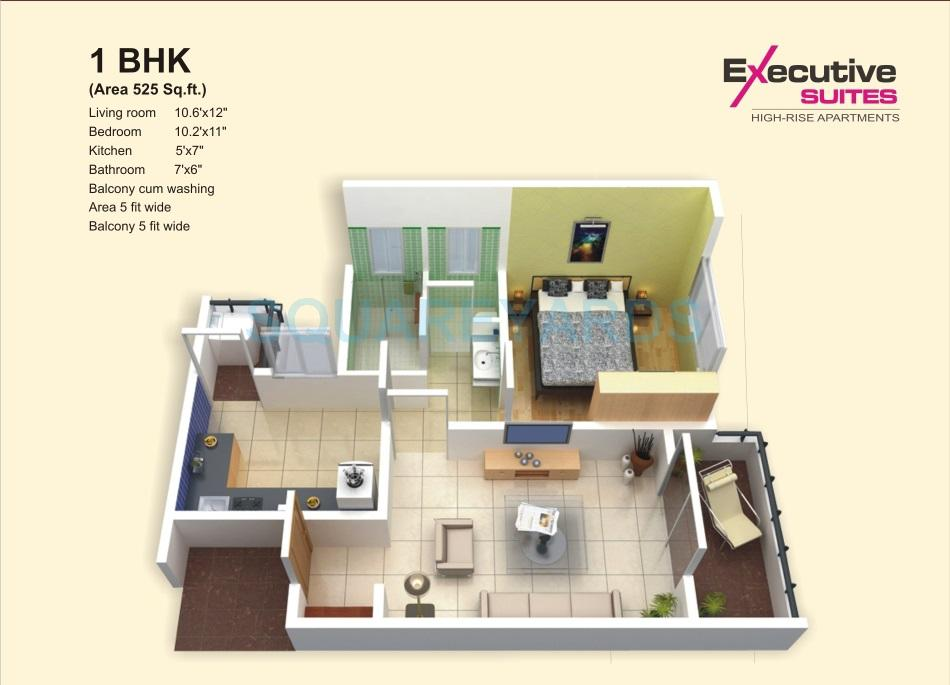 1 Bhk 525 Sq Ft Apartment In Aadhar The Business Capital High Rise