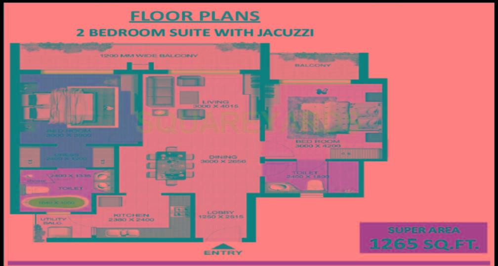 aarcity regency park apartment 2bhk 1265sqft 1
