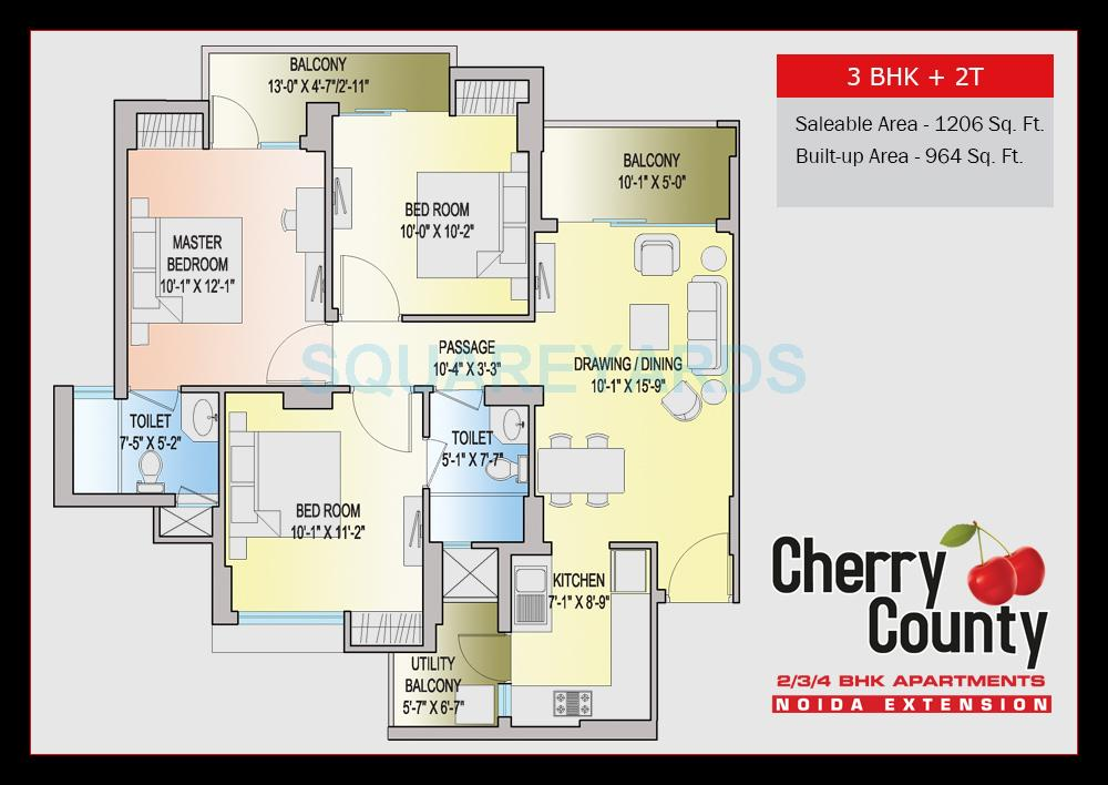aba cherry county apartment 3bhk 1206sqft 1