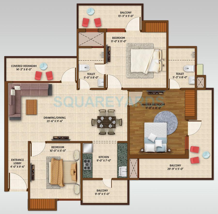 ace aspire apartment 3bhk 1595sqft 1