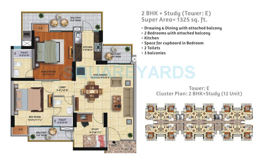 ace city apartment 2bhk 1325sqft 1