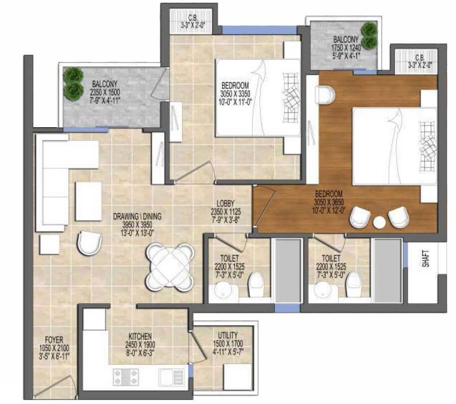ace divino apartment 2bhk 594sqft 1
