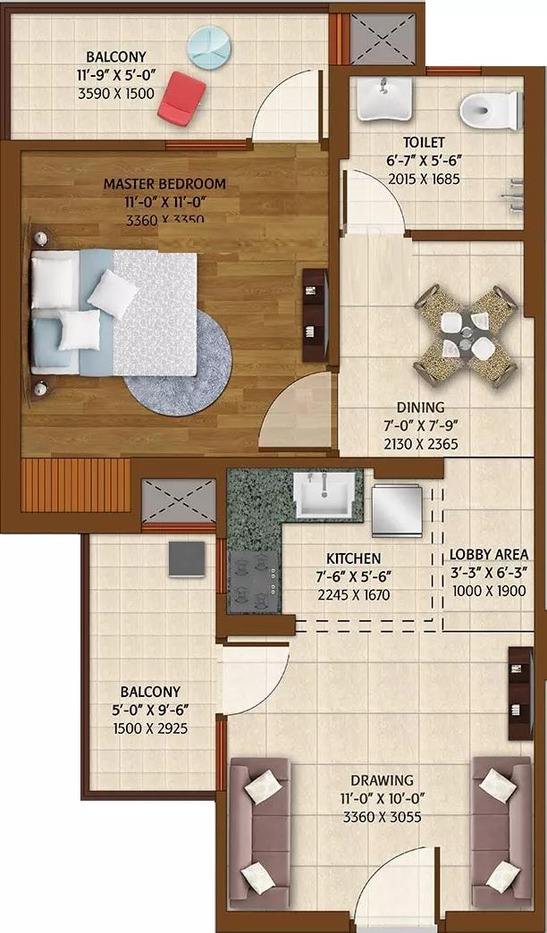 ace platinum apartment 1bhk 700sqft 61