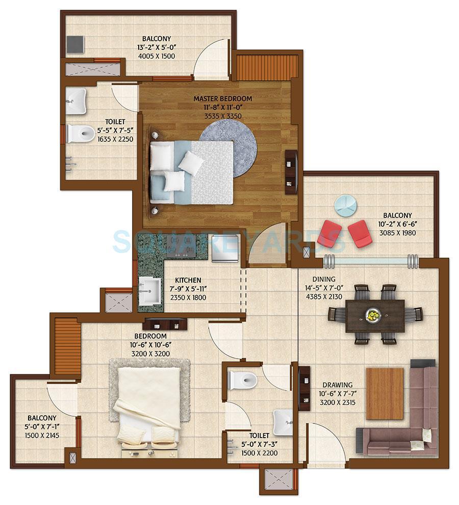 ace platinum apartment 2bhk 1150sqft 1