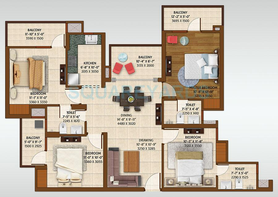 ace platinum apartment 4bhk 1950sqft 1
