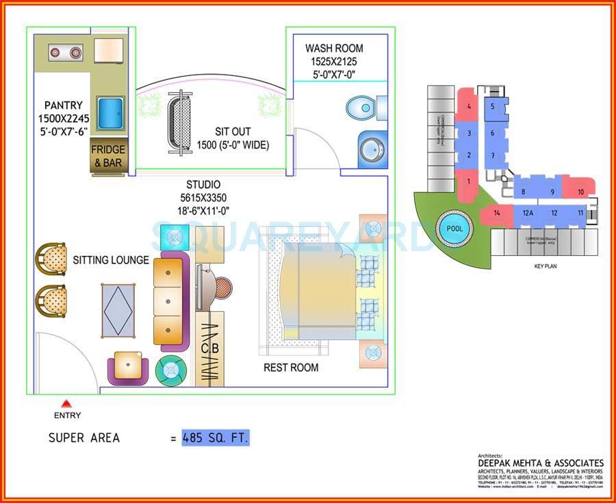 ajnara elements apartment 1bhk 485sqft 1