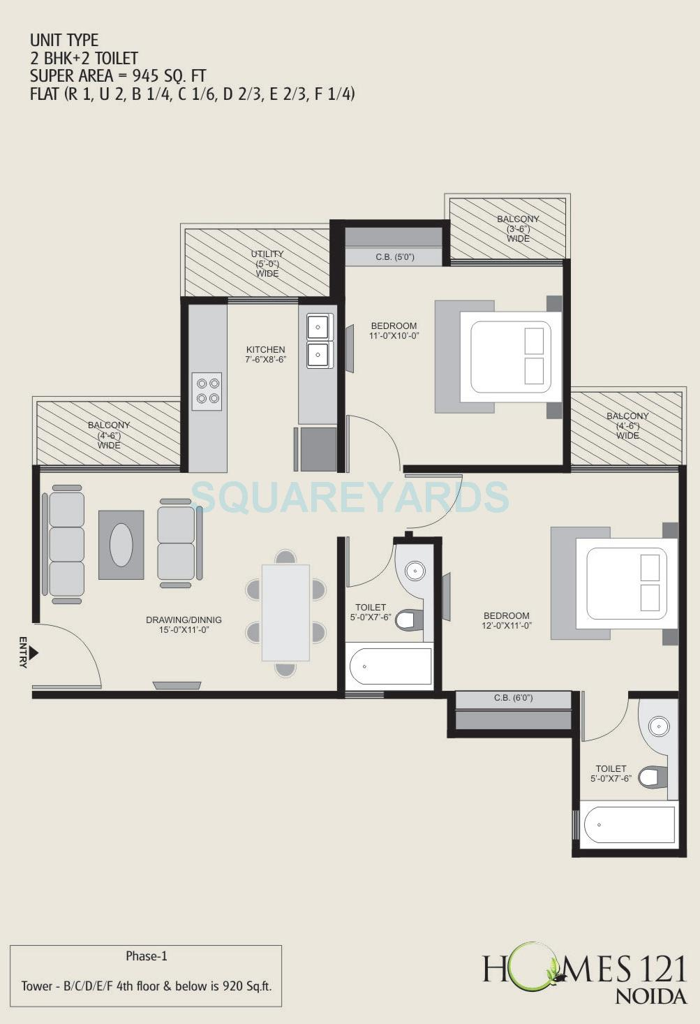 2 Bhk 945 Sq Ft Apartment For Sale In Homes 121 At Rs 5450 Sq Ft Noida