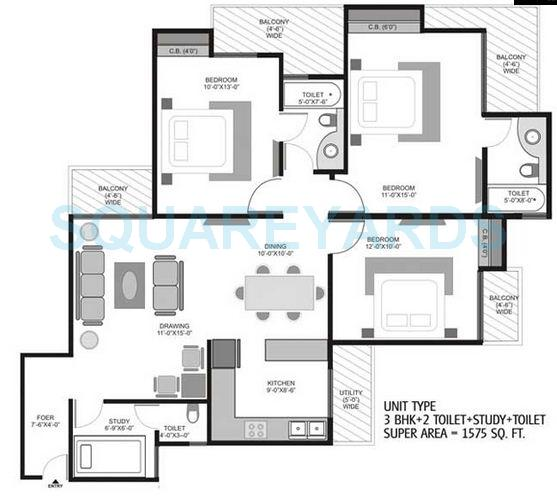 3 Bhk 1575 Sq Ft Apartment For Sale In Homes 121 At Rs 5575 Sq Ft Noida