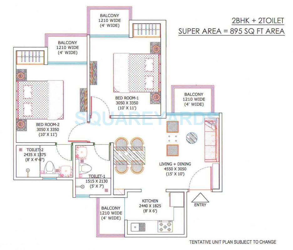 ajnara sports city apartment 2bhk 895sqft 1
