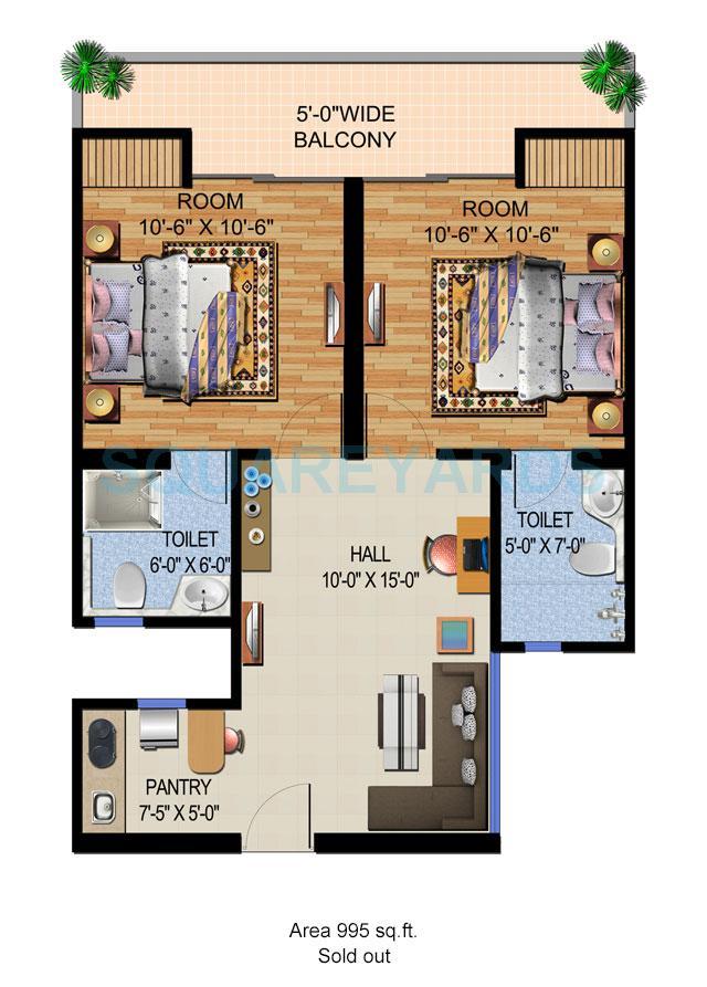 ajnara vice royale apartment 1bhk 955sqft 1