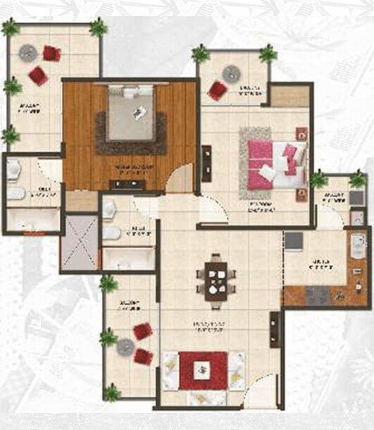 amaatra homes apartment 2bhk 995sqft 1