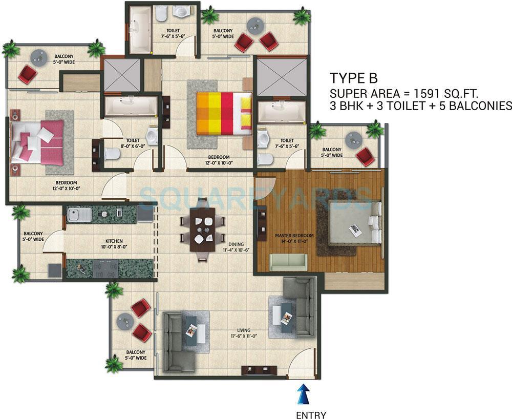amaatra homes apartment 3bhk 1591sqft 1