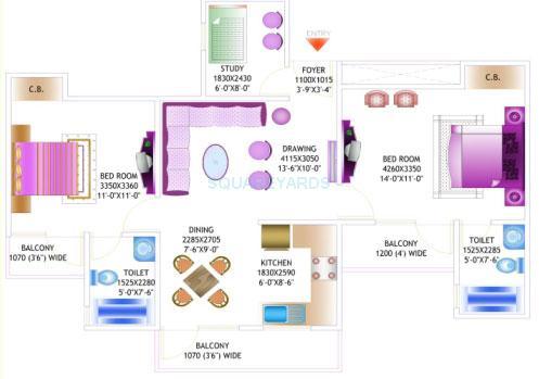amrapali pan oasis apartment 2bhk st 1125sqft 1