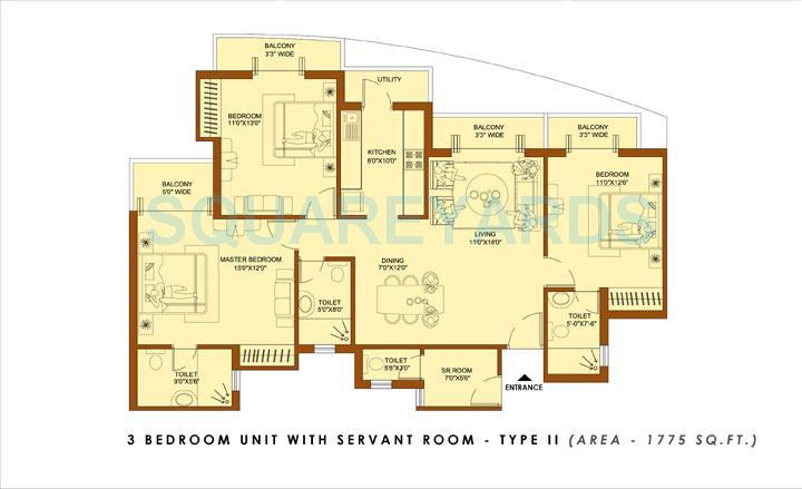 amrapali platinum apartment 3bhk sq 1775sqft 1