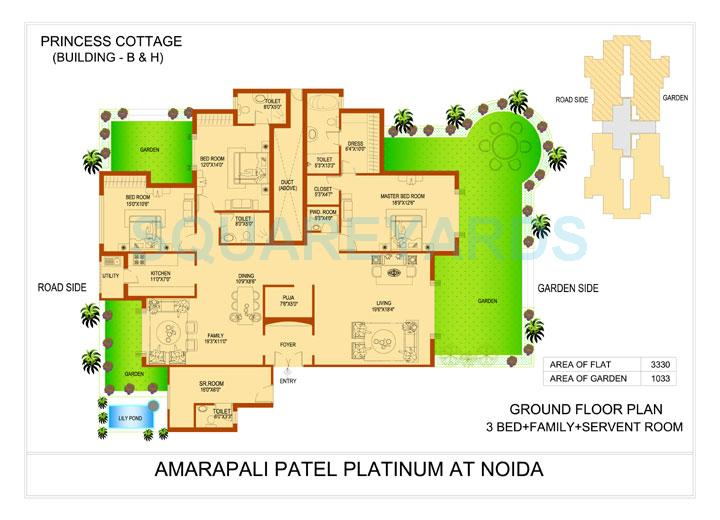 amrapali platinum apartment 3bhk sq 3330sqft 1