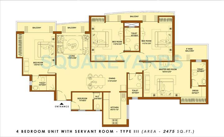 amrapali platinum apartment 4bhk sq 2475sqft 1