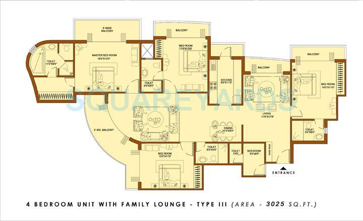 amrapali platinum apartment 4bhk sq 3025sqft 1