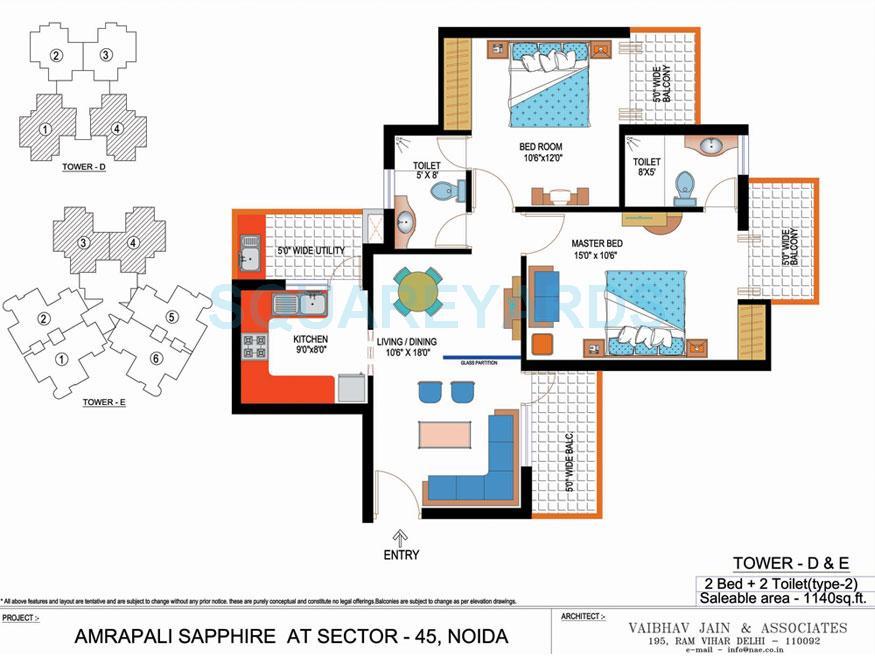 amrapali sapphire apartment 2bhk 1140sqft 1