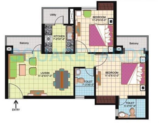 amrapali silicon city apartment 2bhk 950sqft 1