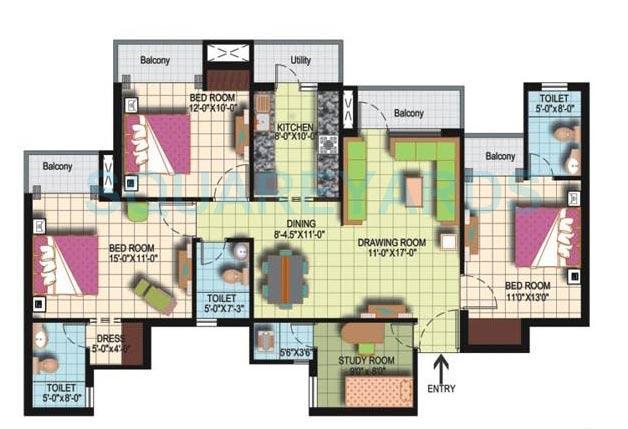 amrapali silicon city apartment 3bhk sq 1775sqft 1