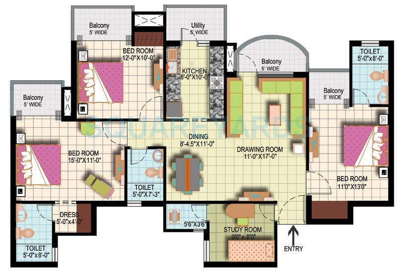 amrapali silicon city apartment 3bhk sq 1835sqft 1